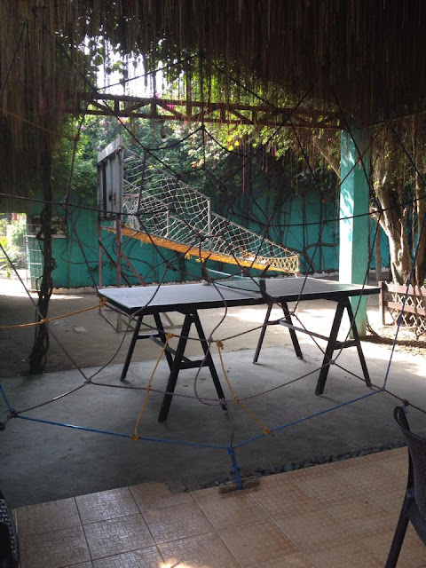 Spider's web and ping pong table at Alta Cebu Resort