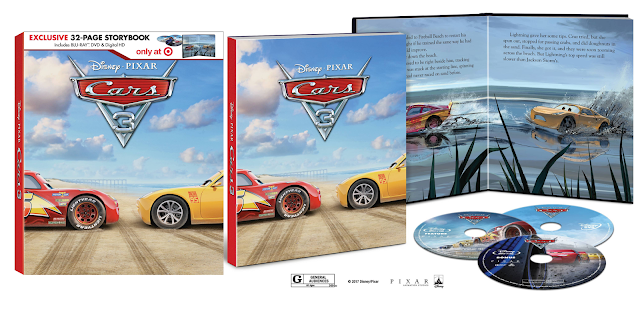 Cars 3 Digibook Target Blu ray exclusive