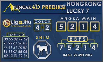 PREDIKSI TOGEL HONGKONG LUCKY7 PUNCAK4D 22 MEI 2019