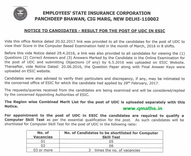 Esic Udc Model Question Paper Pdf