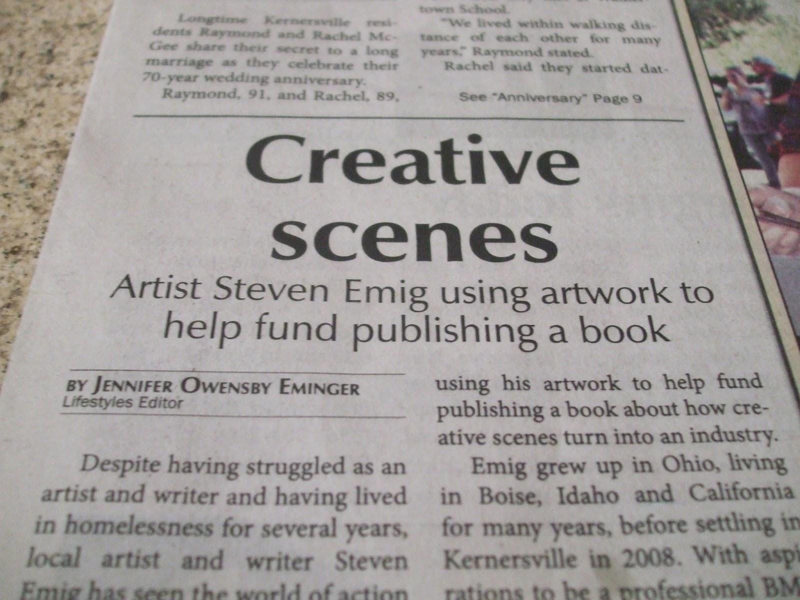 Steve Emig Art: Kernersville News interview with me