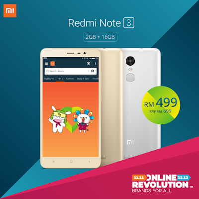 Lazada Mi Malaysia Redmi Note 3 16GB Discount Offer Promo