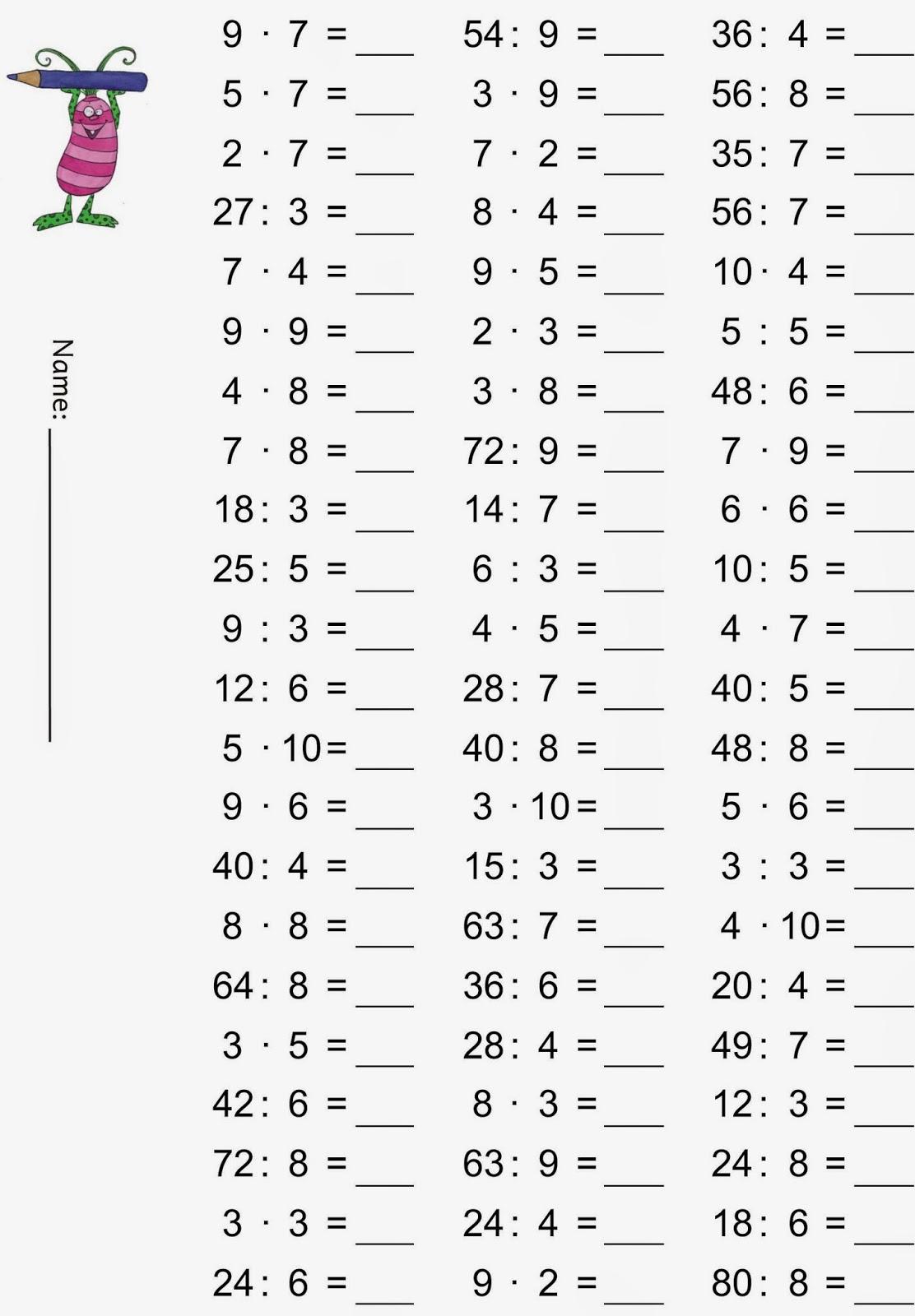 Kopfrechenaufgaben klasse