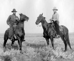 Cowboys at the Grand-Kohrs Ranch in Montana circa 1910.