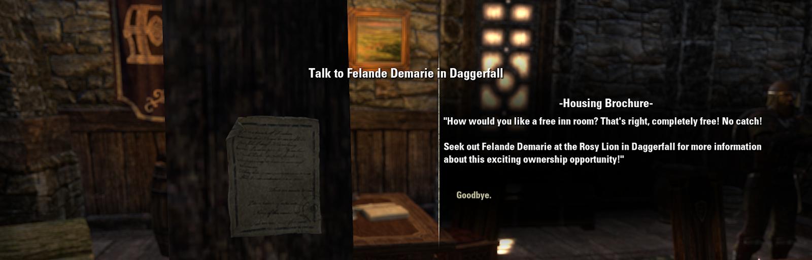 Inventory Full: Room At The Inn : Elder Scrolls Online