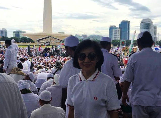 Agnes Marcellina: Saya Bangga Ikut Reuni 212, Ternyata Umat Islam Sangat Toleran
