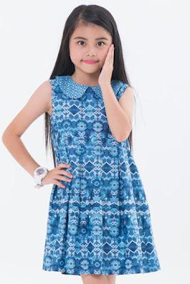 Model Baju Batik Anak Perempuan Lengan Pendek