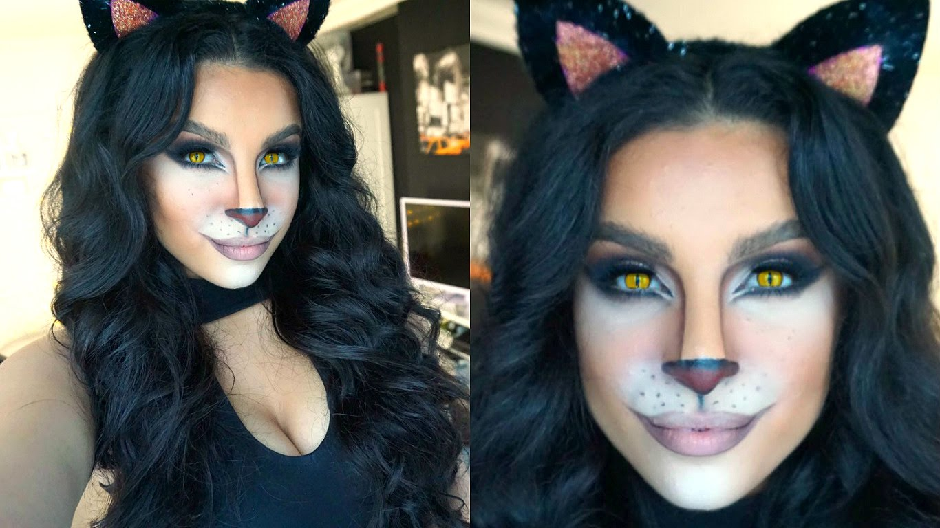 Cute cat makeup