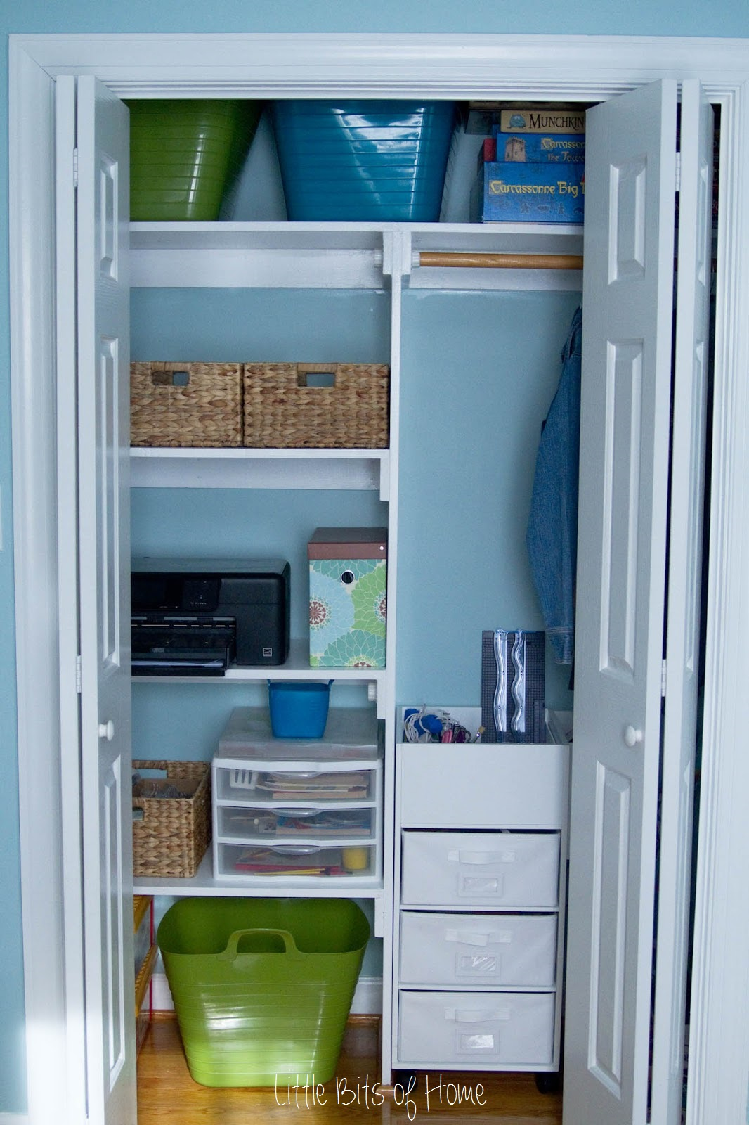 Closet Playroom Storage #kids #playroom #kidspace #color