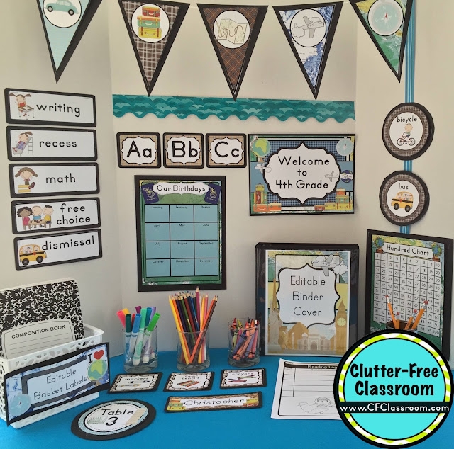 Classroom Decoration Printables Free ~ Travel themed classroom ideas printable