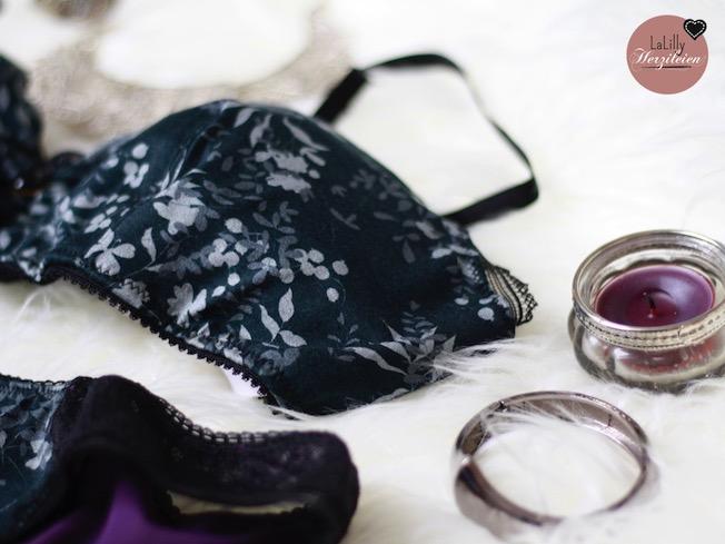Unterwäsche selbernähen- das muss nicht bieder aussehen! hier zeige ich dir ein Set aus Bustier und Slip genäht aus Viskosejersey und Spitze