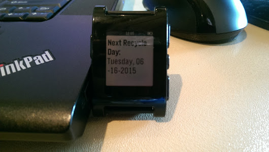 Civic Hacking - Creating a Pebble Watch App for Recycling Data in Appleton, WI