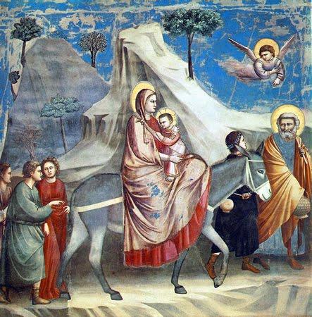 Huida a Egipto – Giotto