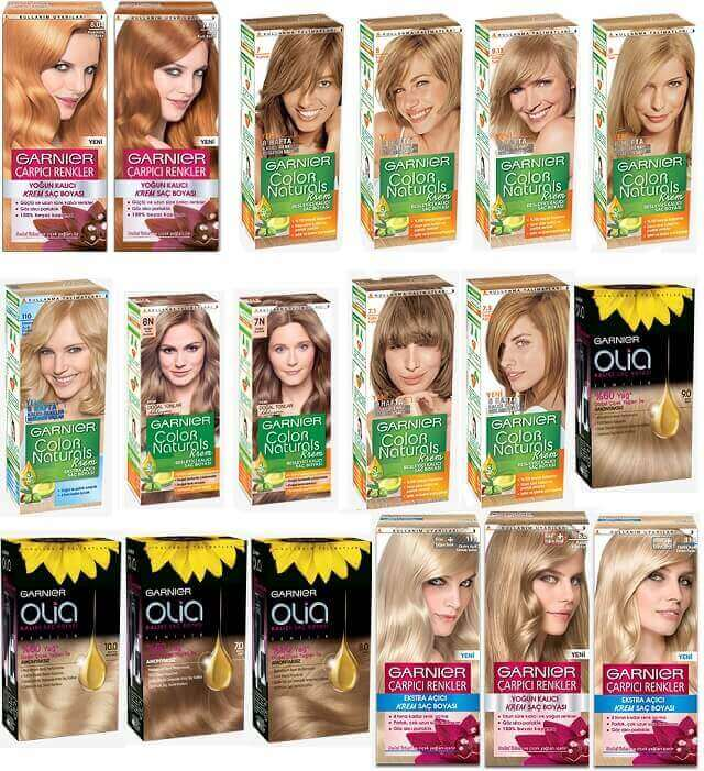 Garnier saç sarı renk kataloğu