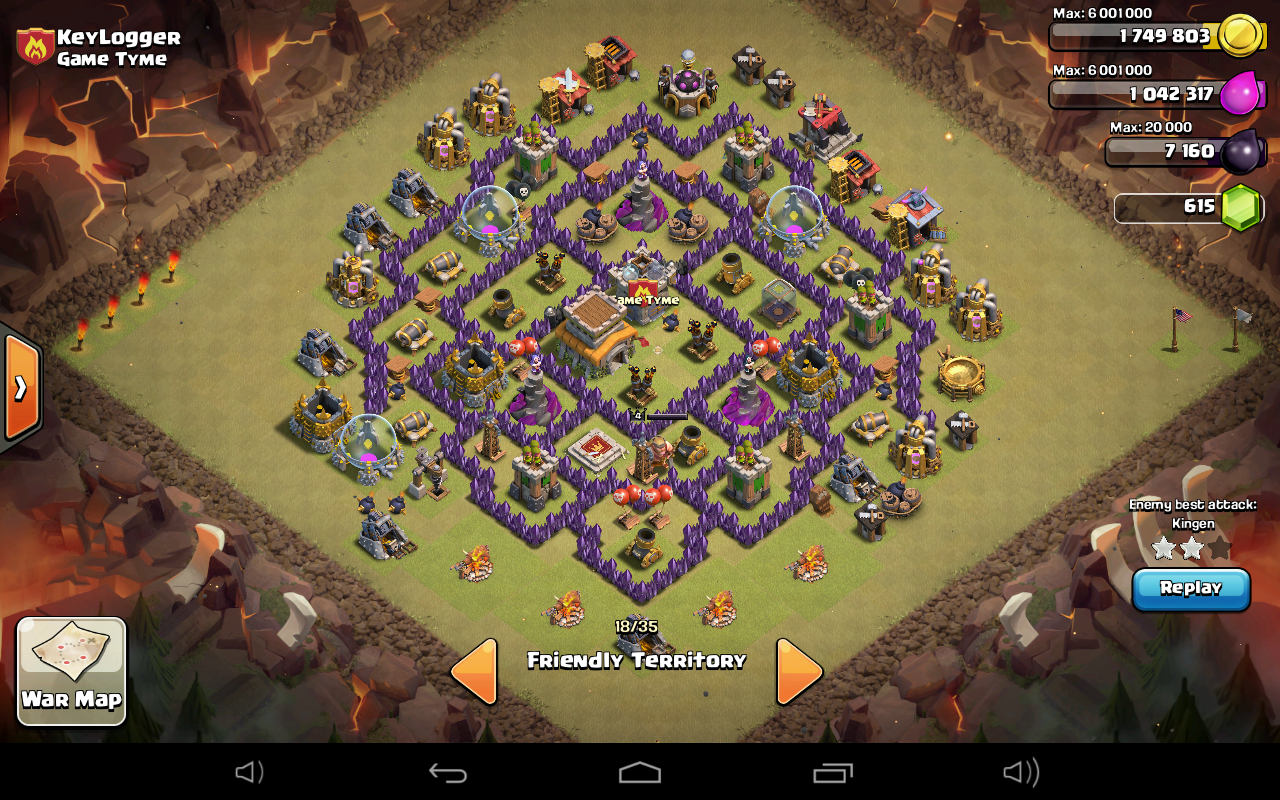 Town Hall 8 Ultimate Clan War Base Design - Defense Proof ...