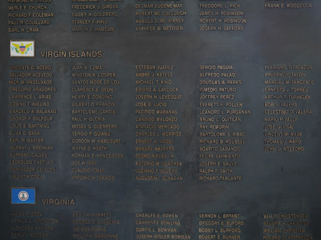 names of service persons from the Virgin Islands who died in the Korean War