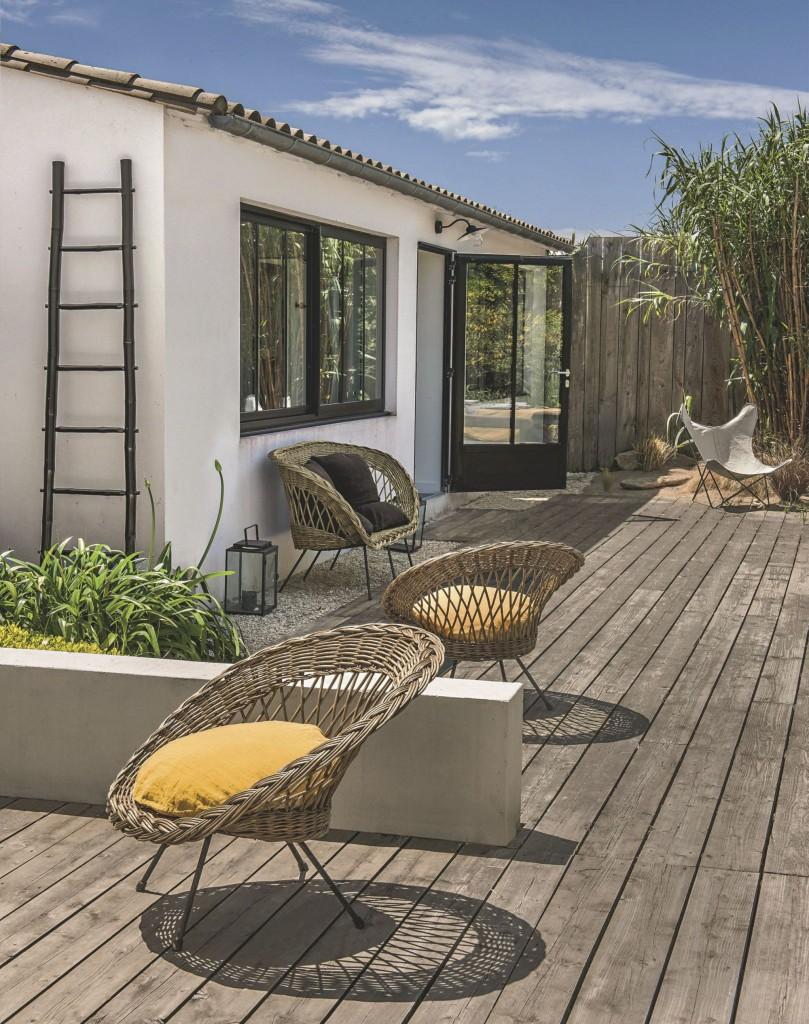 Chez Odile Baudry de Secret Maison sur l'île de Ré - terrasse