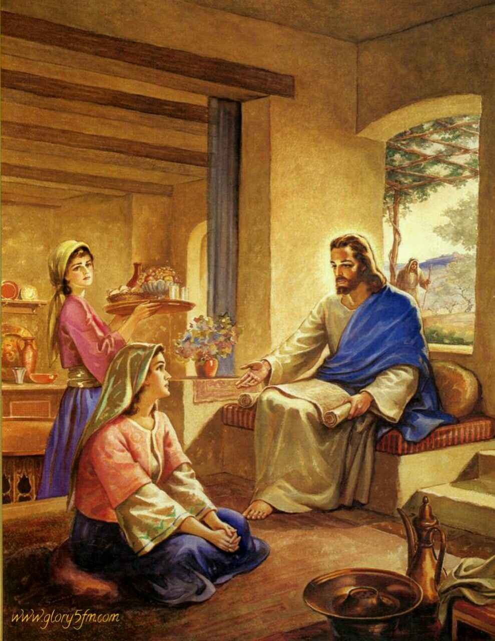 When Martha had opened her home to Jesus (Luke 10:38), Mary had opened her heart to Him.