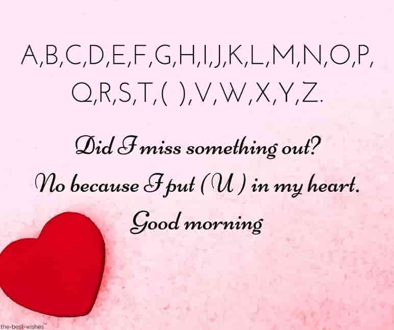 i miss you good morning sms