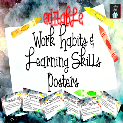 EDITABLE Work Habits and Learning Skills Posters