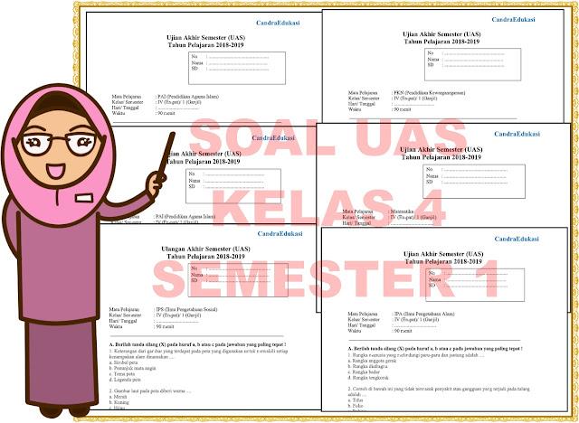 Soal UAS/PAS Kelas 4 Semester 1 Dan Kunci Jawaban