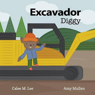 Diggy is an excavator with a lot of work to do! This simple story and fun illustrations delighted my 2 year old.  Great for pre-readers and young readers!