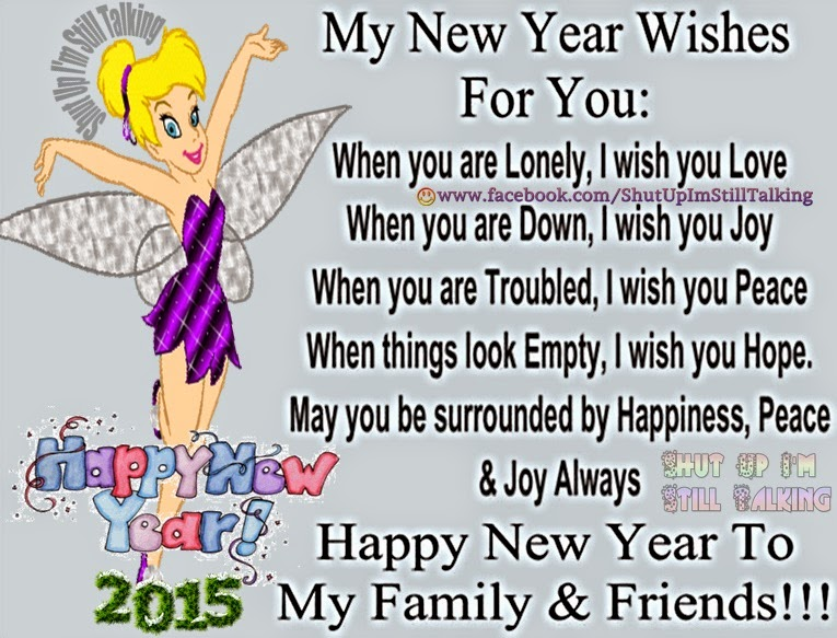 I wish you Love Joy Peace and Hope , My New Year Wishes Just For You