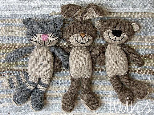 Knitted Toys Happy Pets Knitted Cat Knitted Bear And