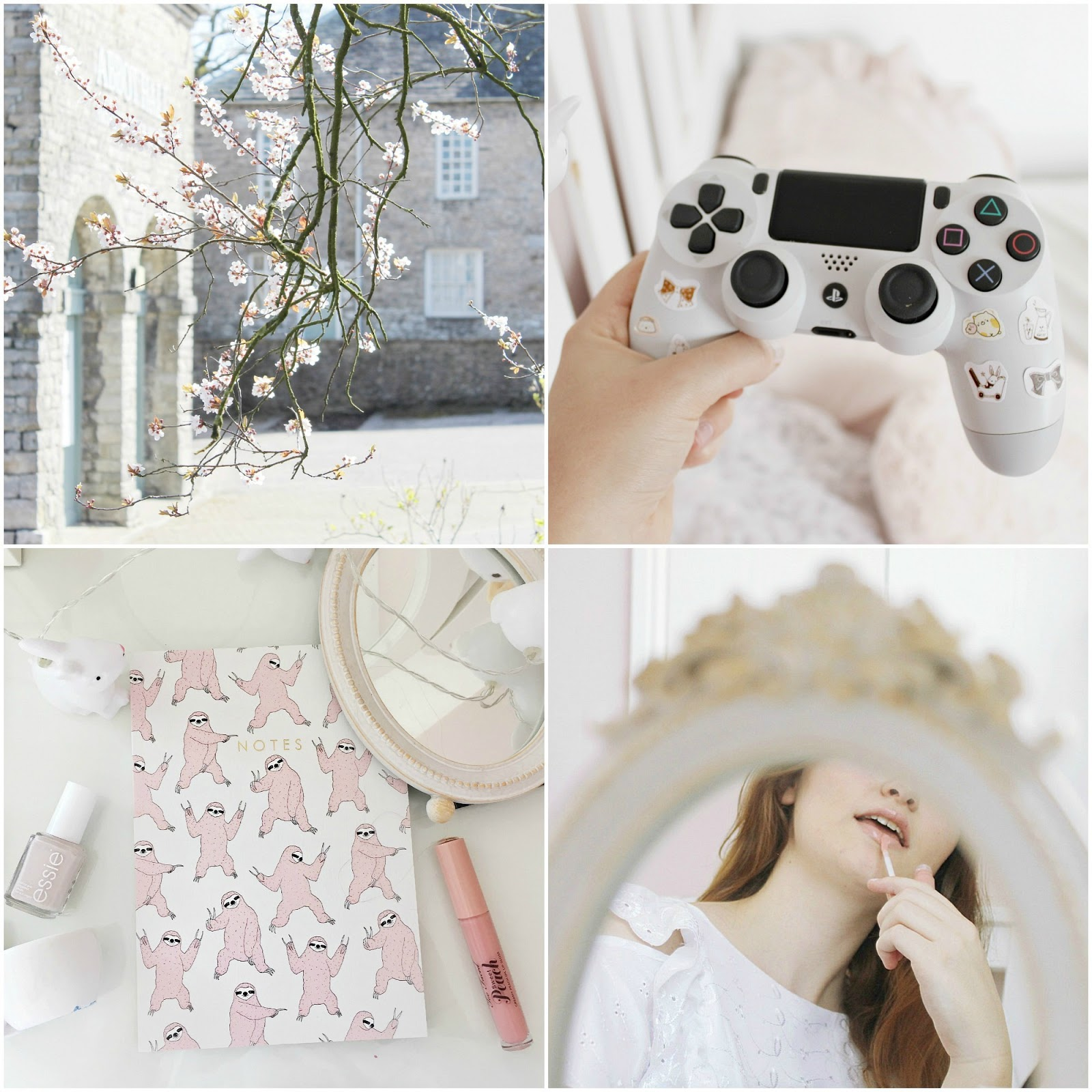 Spring photo diary pink girly blog aesthetic