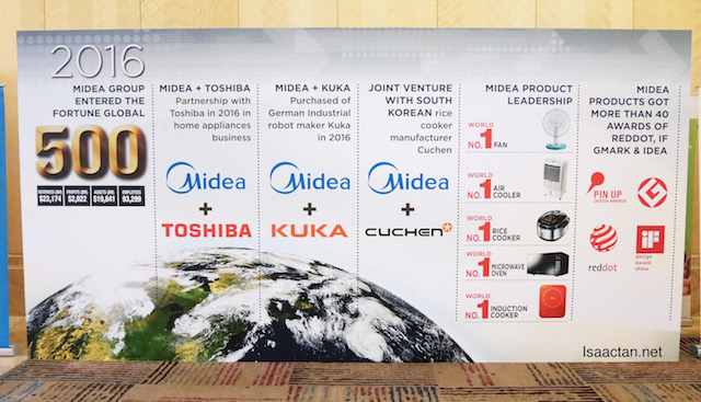 MIDEA Group is now a fortune global 500 company