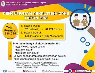 Pendaftaran CPNS 2018 diUndur 26 September 2018