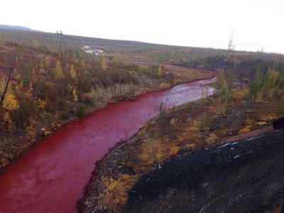 Impressionantes Rio de Sangue surgiu na Rússia. Será que é a profecia biblica?