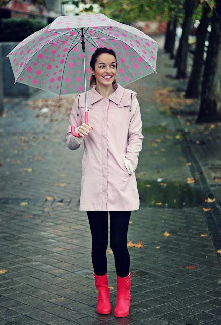 botas para lluvia con tacon