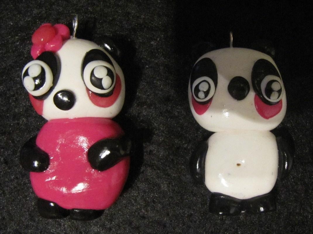 Bijoux de création en pâte fimo: Modèles de panda en pâte fimo