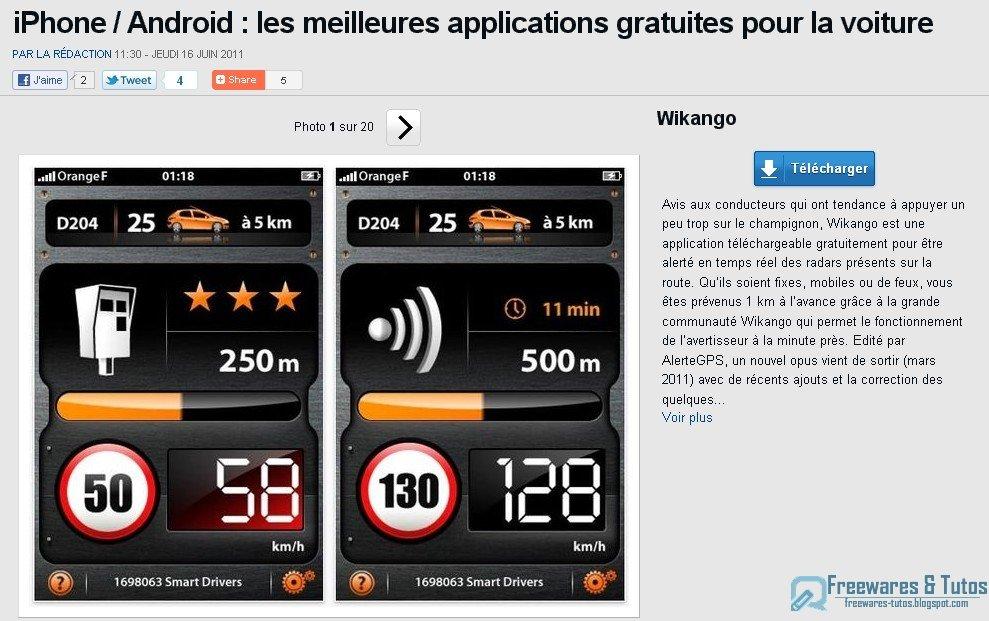 le site du jour iphone android les meilleures applications gratuites pour la voiture. Black Bedroom Furniture Sets. Home Design Ideas