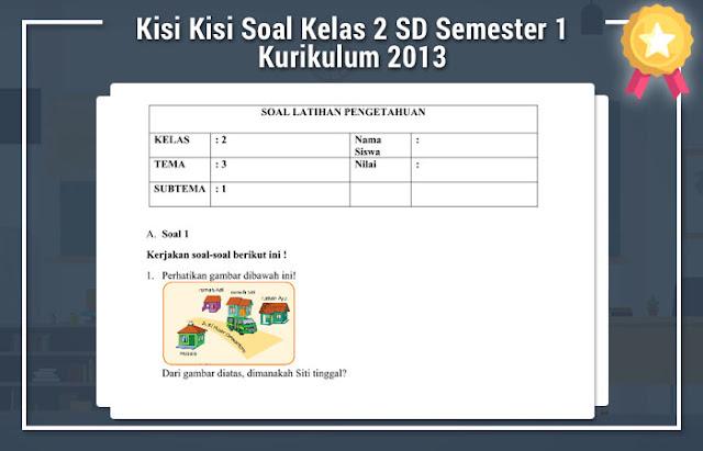 Kisi Kisi Soal Kelas 2 SD Semester 1
