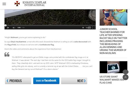 Knights Templar International omits information in news