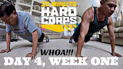 Day 4 Week One 22 Minute Hard Corps Challenge, Resistance 1 Workout 22 Minute Hard Corps, Get Shakeology Samples, Beachbody Coach Motivation, Beachbody Motivation