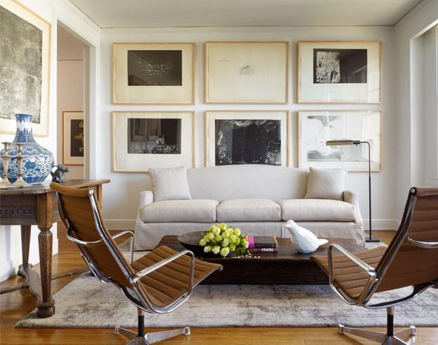 {BLACK. WHITE. YELLOW.}: Living Room Inspiration