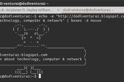 Menulis Text Menjadi Gambar ASCII di Terminal