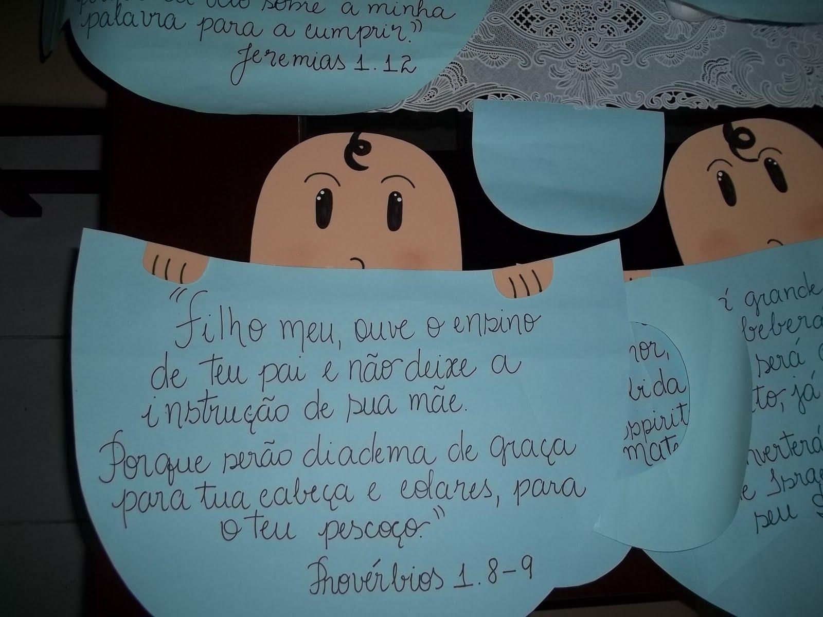 Mensagem De Apresentação De Bebe Na Igreja: Coisas Da Tati: Chá Do Emannuel