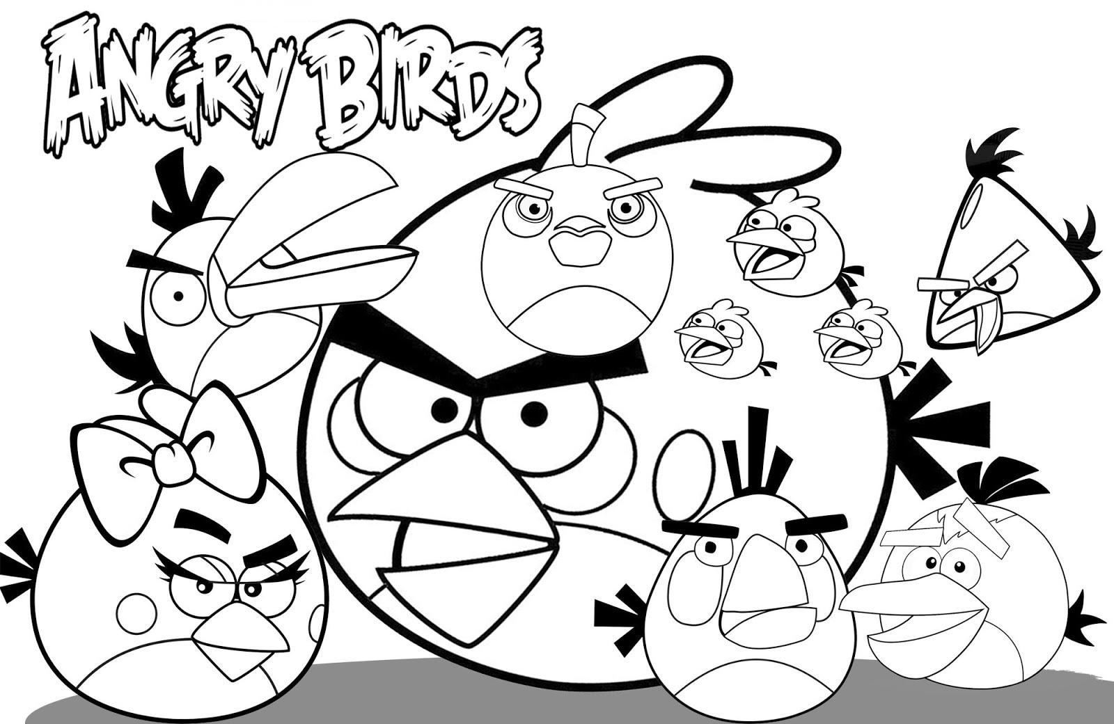 13 Mewarnai Gambar Angry Bird Masjid Mobil Naruto Kity