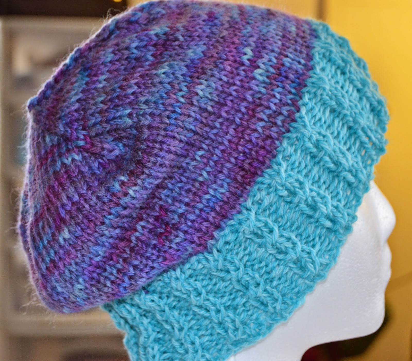 yarn dyed with food coloring, Cascade 220, Cascade Quatro, fake cables, cabled ribbing, twisted stitch, hat, beanie, toque