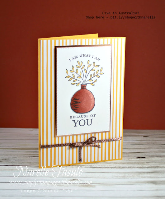 Just Because - that't the name of this stamp set and the reason why you need to send a card to someone special today. See our complete range of products here - http://bit.ly/shopwithnarelle