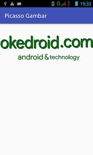 Hasil Gambar dengan Library Picasso Android