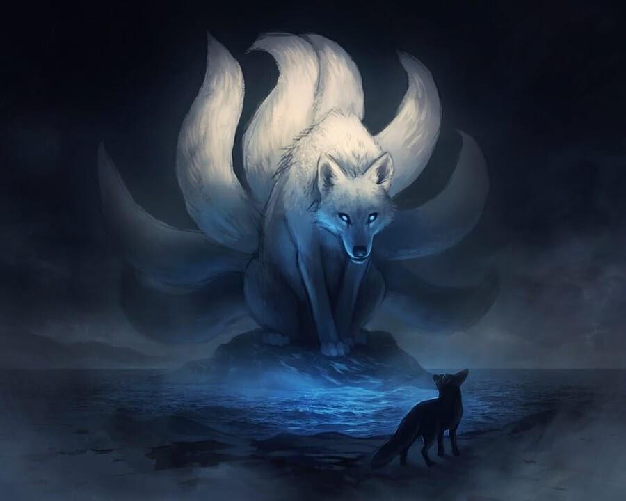 06-nine-tailed-fox-Jonas-Jödicke-Digital-Art-www-designstack-co