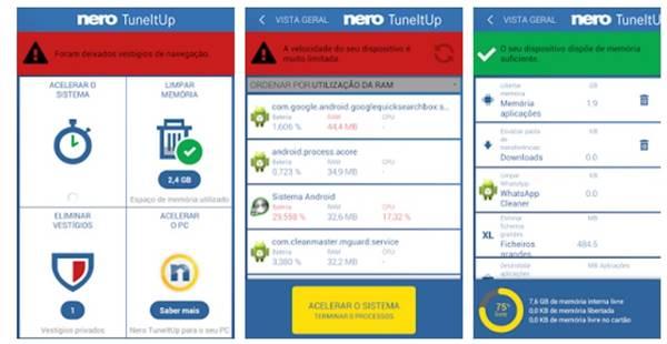 O aplicativo para Android Nero TuneItUp libera memória, acelera sistema e limpa até 'lixo' esquecido por WhatsApp e outros aplicativos