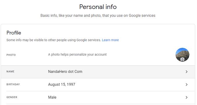 Cara Ganti Nama Gmail (Akun Google) 2019 Mudah dan Cepat