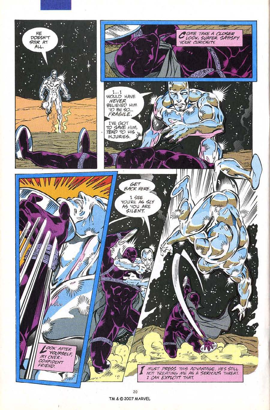 Read online Silver Surfer (1987) comic -  Issue #60 - 22