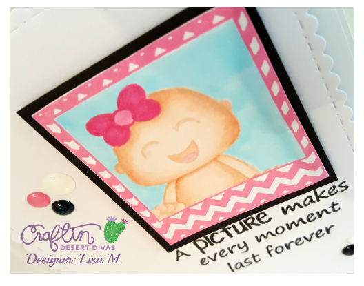 Give the gift of pictures pink baby shower card